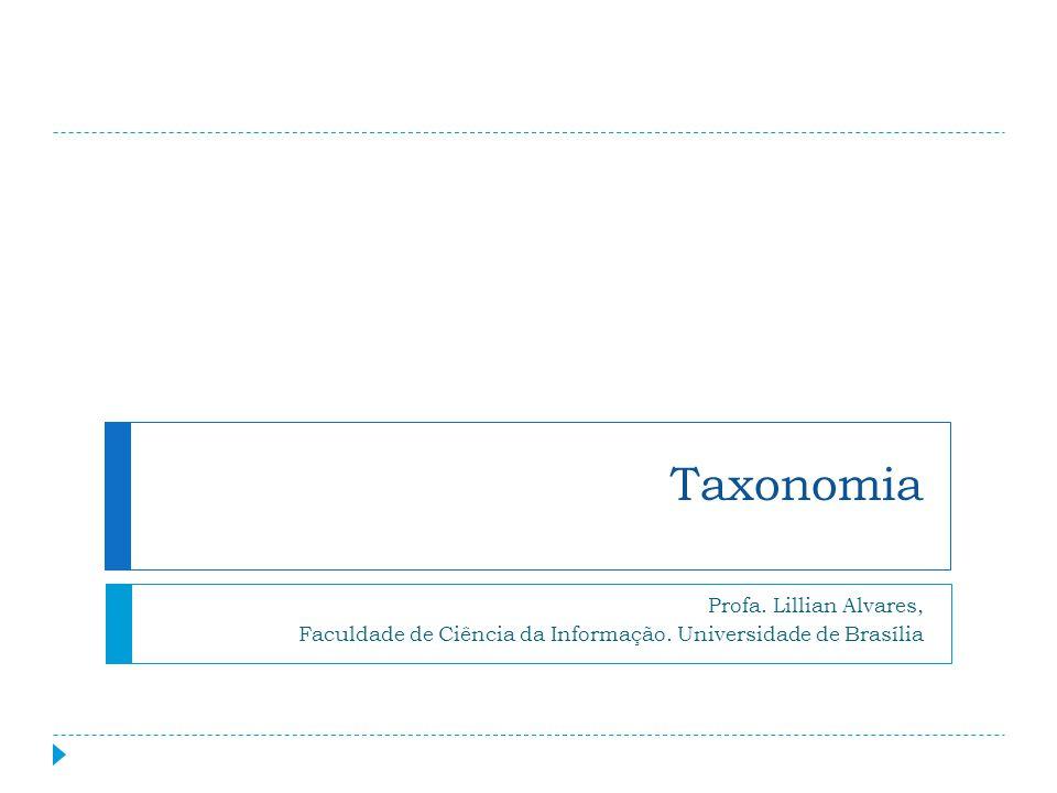 No Contexto Empresarial As taxonomias ganharam importância na organização de informações no contexto empresarial 12