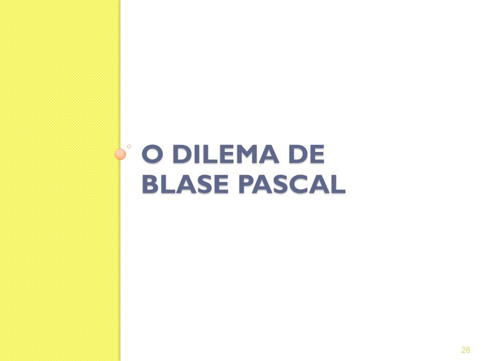 O DILEMA DE BLASE PASCAL 28
