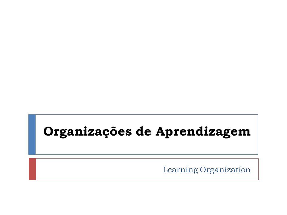 Conceitos Organizações de Aprendizagem são organizações que tem capacidade de: Aprender Renovar Inovar continuamente