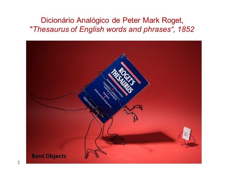 Dicionário Analógico de Peter Mark Roget,