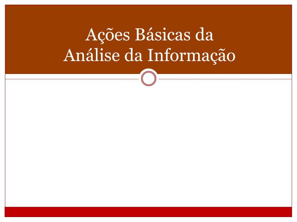 O resultado da análise da informação é a composição de: Descrição Representação visando à recuperação da informação.