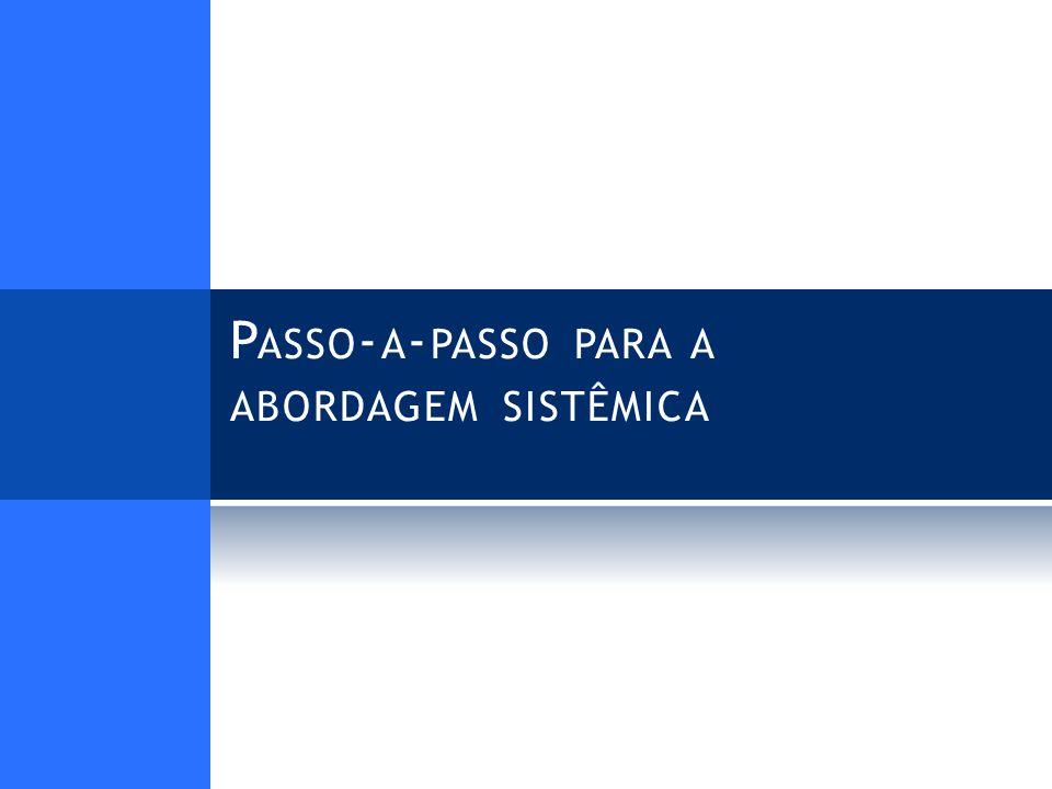 P ASSO - A - PASSO PARA A ABORDAGEM SISTÊMICA