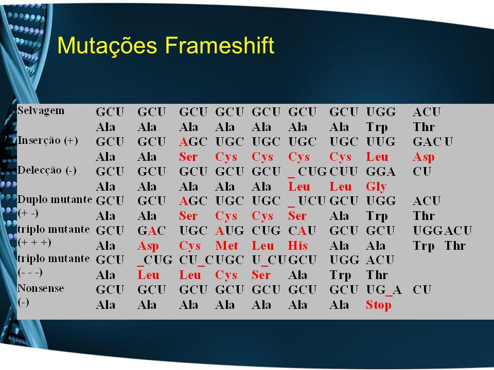Mutações Frameshift