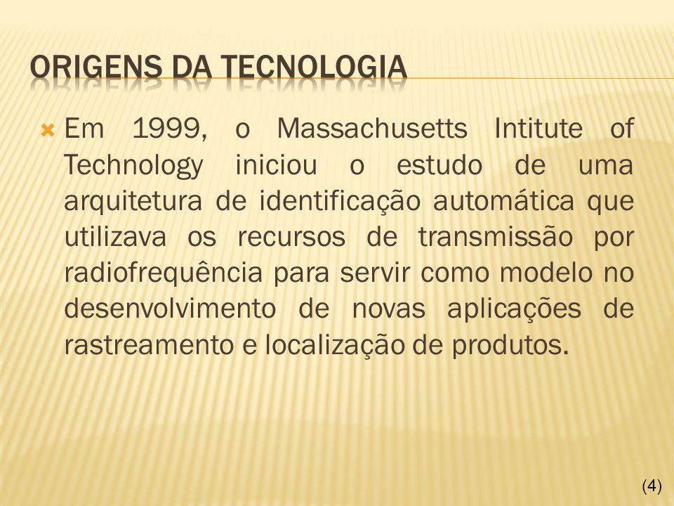 Em 1999, o Massachusetts Intitute of Technology iniciou o estudo de uma arquitetura de identificação automática que utilizava os recursos de transmiss