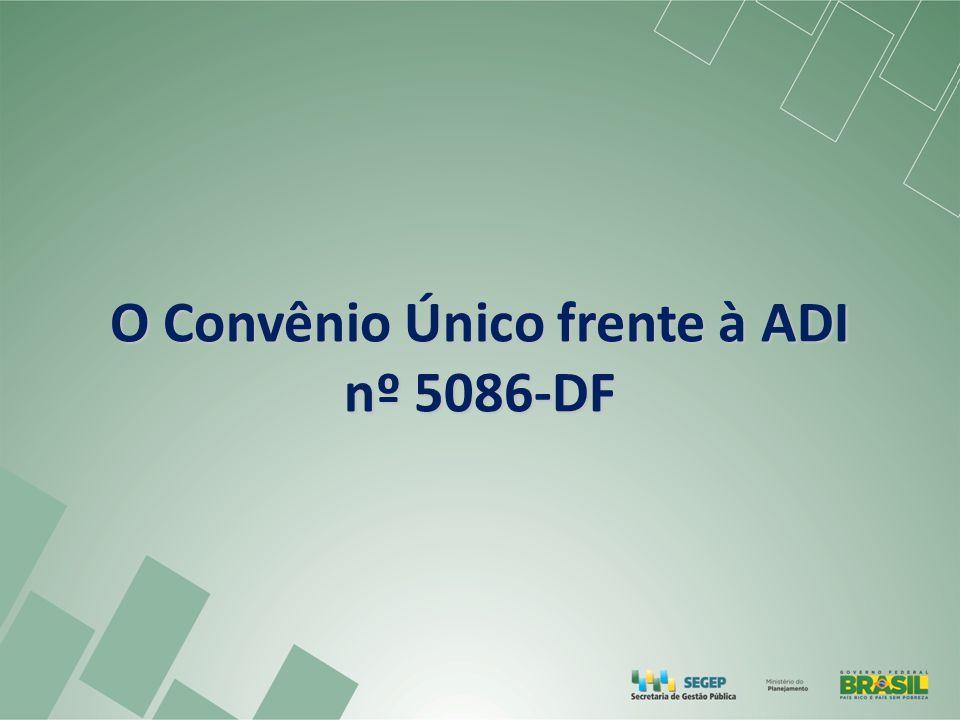 O Convênio Único frente à ADI nº 5086-DF