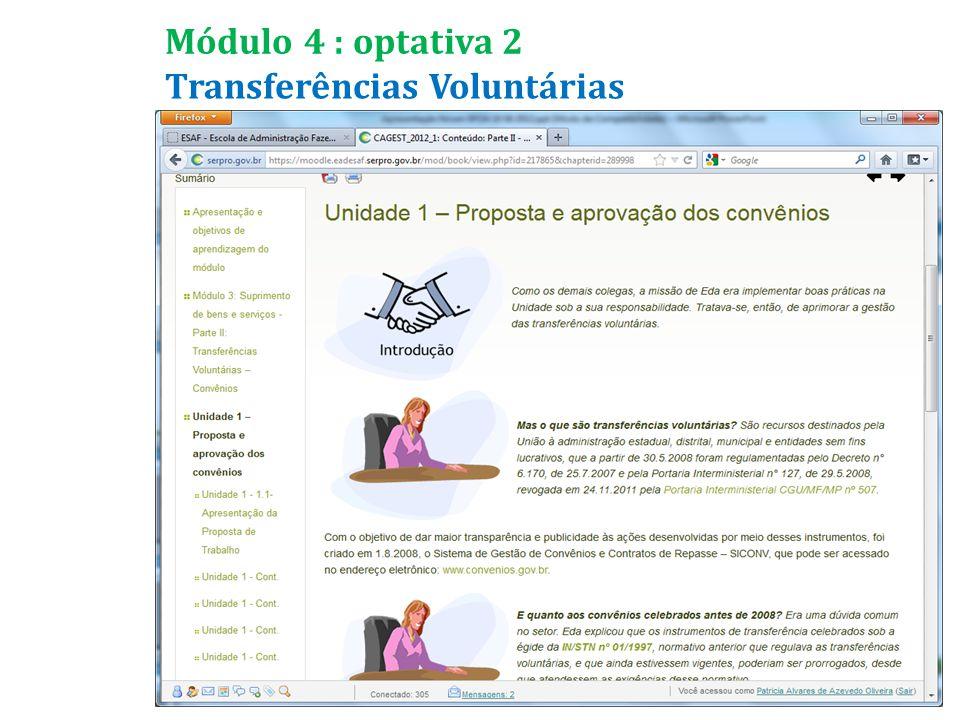 Transferências Voluntárias Módulo 4 : optativa 2