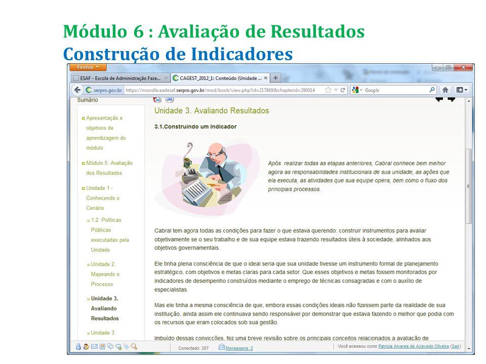 Construção de Indicadores Módulo 6 : Avaliação de Resultados