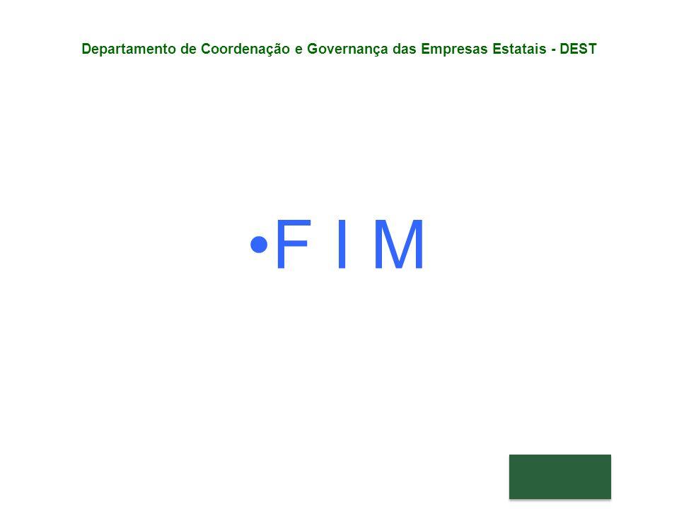 F I M Departamento de Coordenação e Governança das Empresas Estatais - DEST