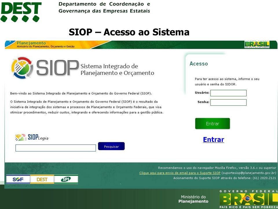 Entrar SIOP – Acesso ao Sistema
