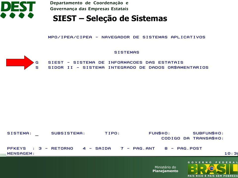 SIEST – Seleção de Sistemas