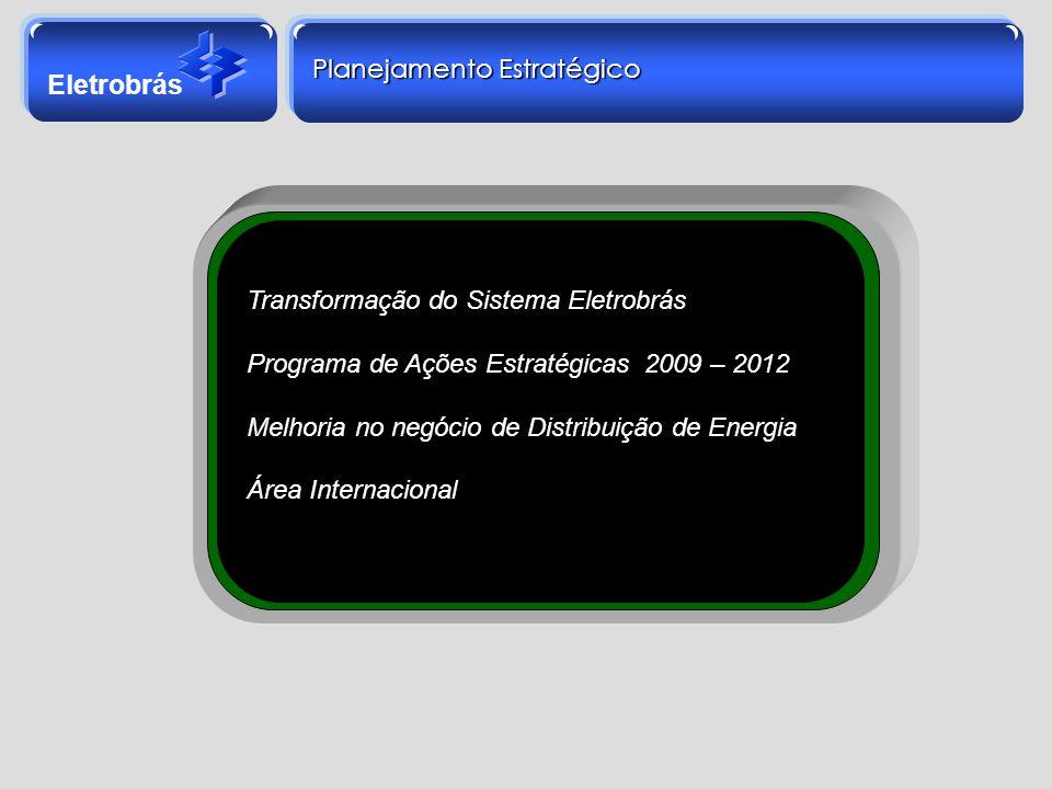 Eletrobrás Planejamento Estratégico Transformação do Sistema Eletrobrás Programa de Ações Estratégicas 2009 – 2012 Melhoria no negócio de Distribuição