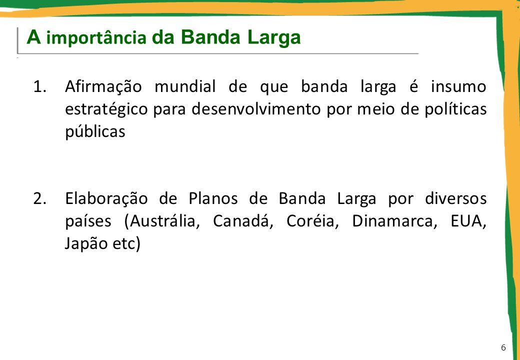 2. Diagnóstico: Banda Larga no Brasil hoje 7