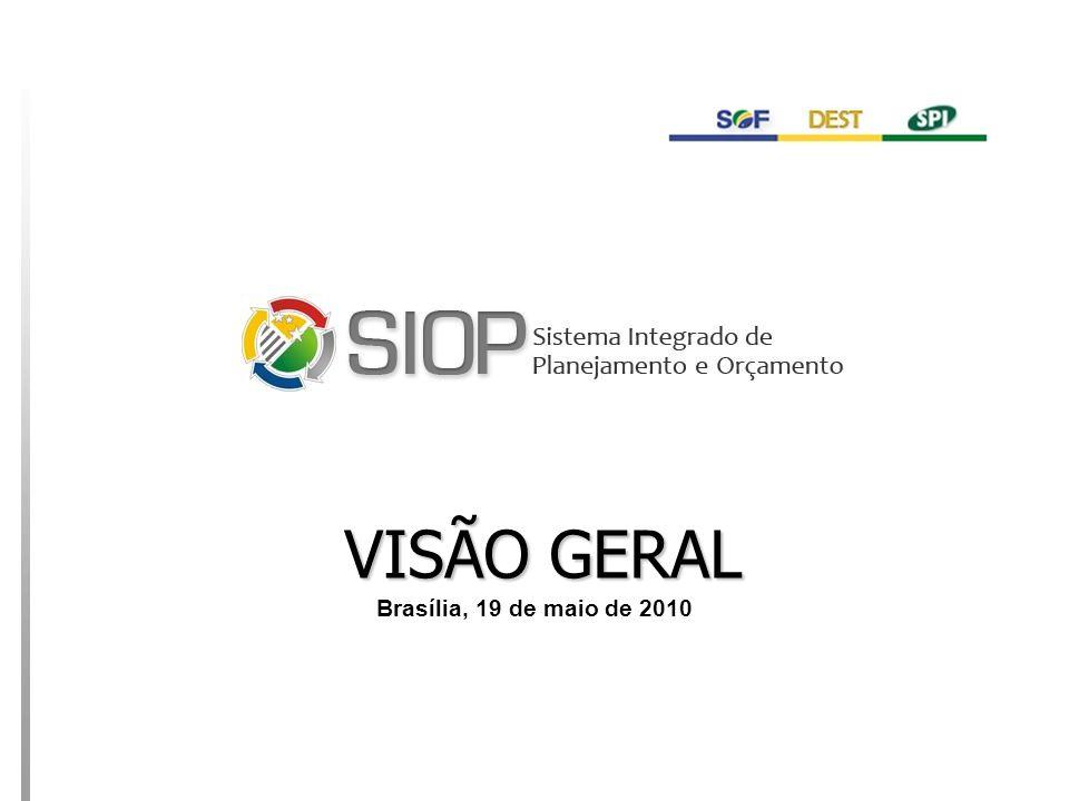 MINISTÉRIO DO PLANEJAMENTO VISÃO GERAL Brasília, 19 de maio de 2010