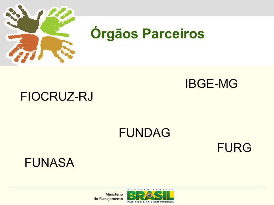 MINISTÉRIO DO PLANEJAMENTO FIOCRUZ-RJ FUNASA FUNDAG IBGE-MG FURG Órgãos Parceiros