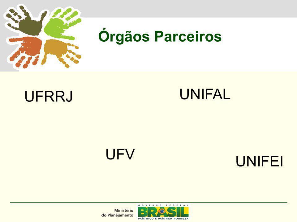 MINISTÉRIO DO PLANEJAMENTO Órgãos Parceiros UFRRJ UFV UNIFAL UNIFEI