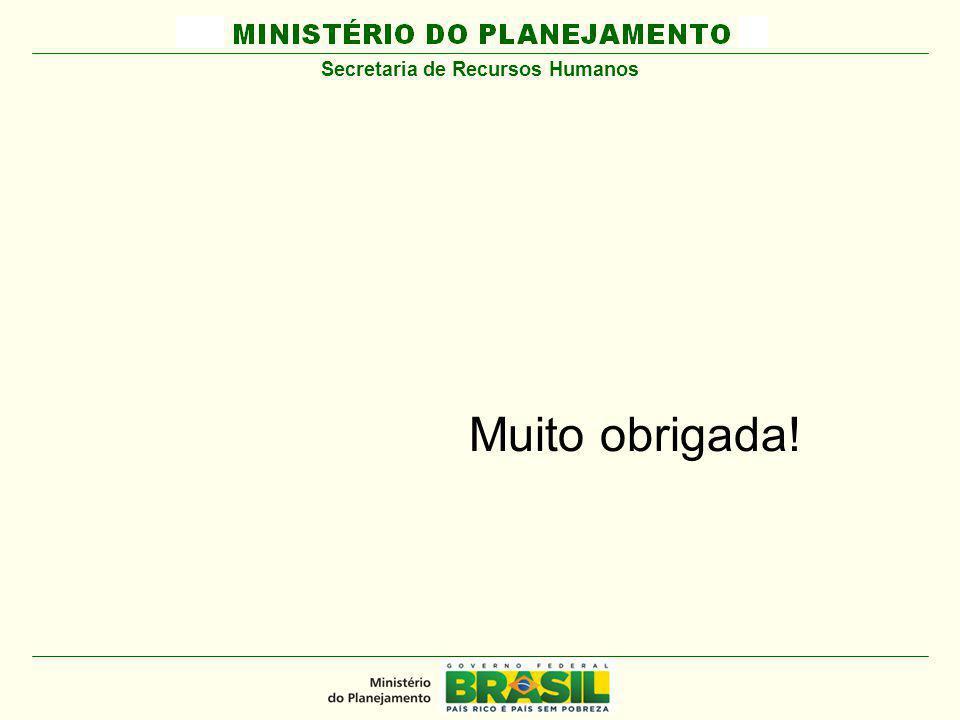 MINISTÉRIO DO PLANEJAMENTO Muito obrigada! Secretaria de Recursos Humanos