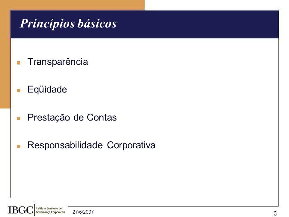 27/6/2007 24 O grupo controlador, visando maior alinhamento de interesses, propôs à sociedade realizar duas aquisições de empresas (X e Y).