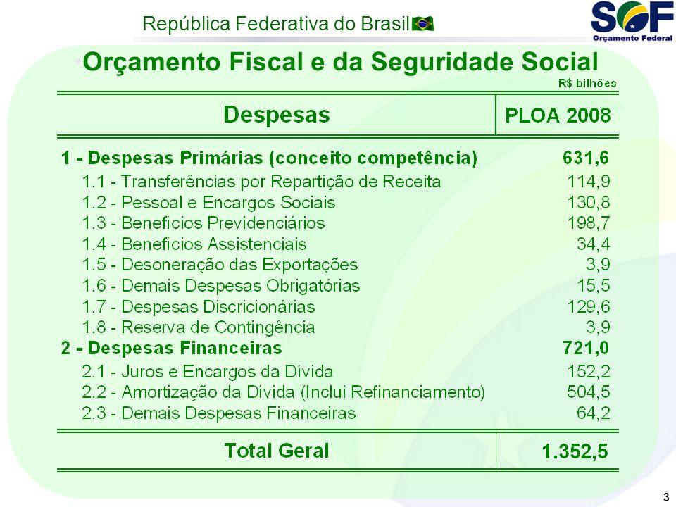 República Federativa do Brasil 3 Orçamento Fiscal e da Seguridade Social