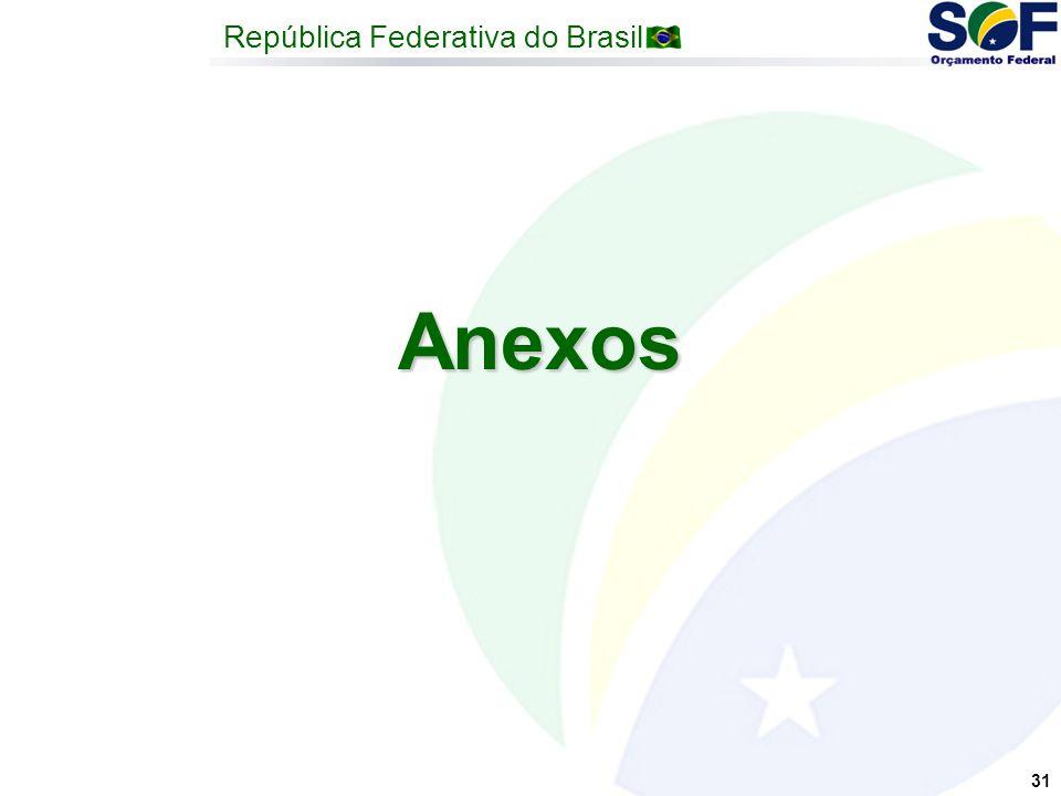República Federativa do Brasil 31 Anexos