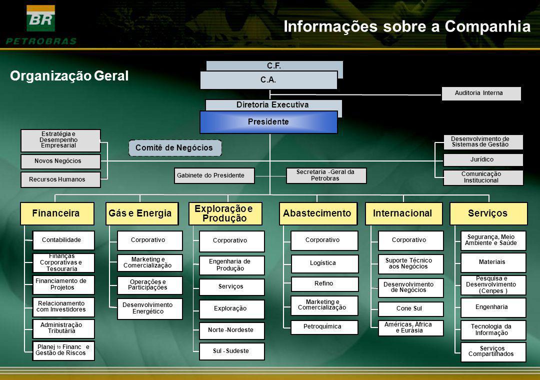 Organização Geral Informações sobre a Companhia