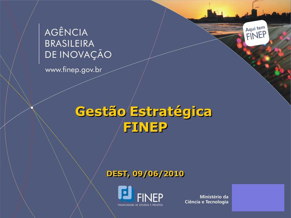 Gestão Estratégica FINEP DEST, 09/06/2010 Gestão Estratégica FINEP DEST, 09/06/2010