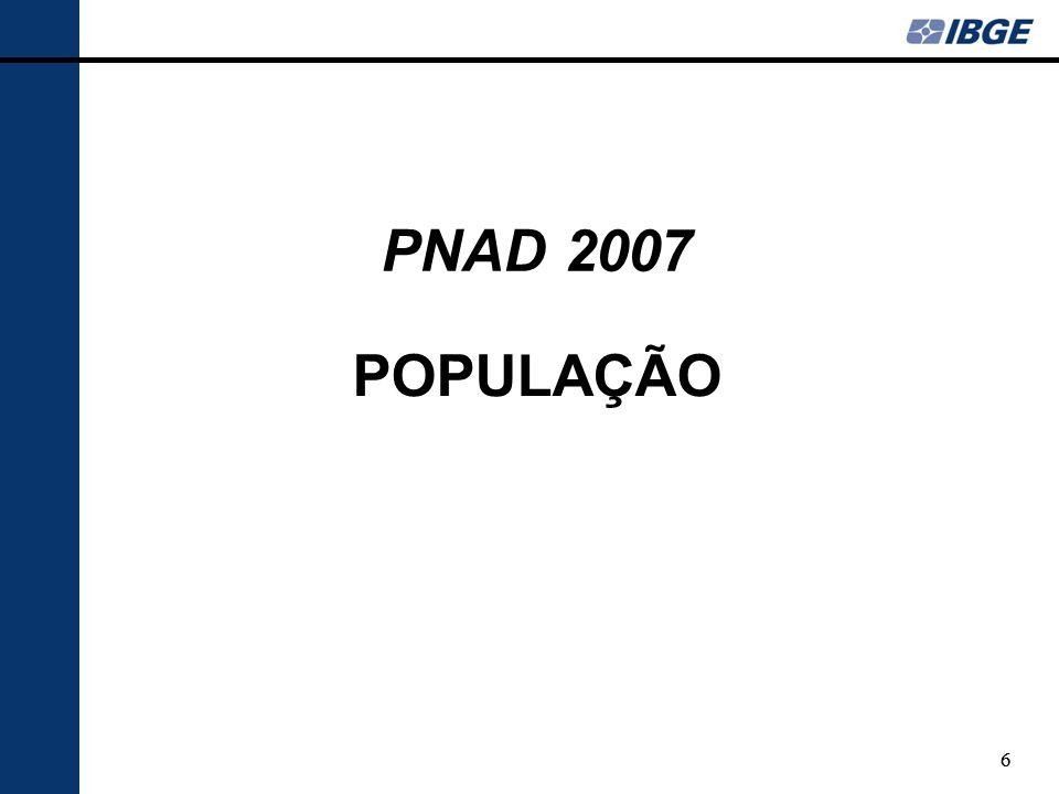 47 TRABALHO DAS CRIANÇAS E ADOLESCENTES PNAD 2007