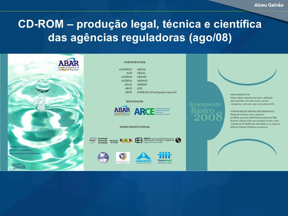 Alceu Galvão CD-ROM – produção legal, técnica e científica das agências reguladoras (ago/08)