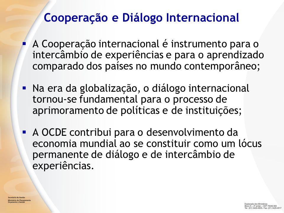 A Cooperação internacional é instrumento para o intercâmbio de experiências e para o aprendizado comparado dos países no mundo contemporâneo; Na era d