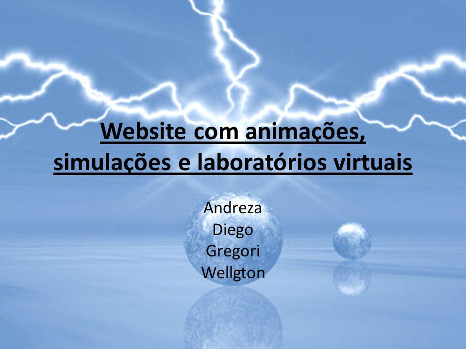 Website com animações, simulações e laboratórios virtuais Andreza Diego Gregori Wellgton