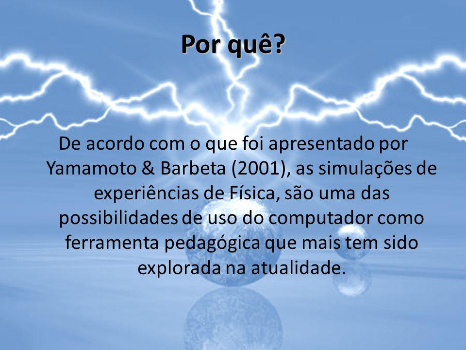 Por quê? De acordo com o que foi apresentado por Yamamoto & Barbeta (2001), as simulações de experiências de Física, são uma das possibilidades de uso