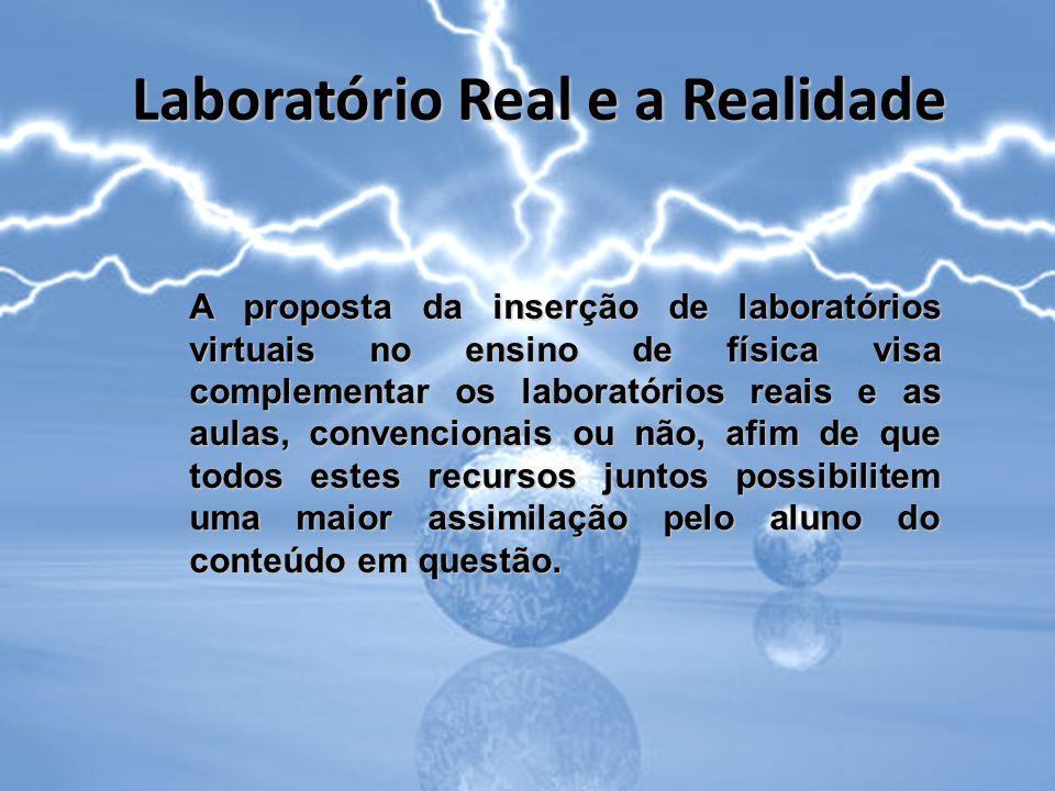Laboratório Real e a Realidade A proposta da inserção de laboratórios virtuais no ensino de física visa complementar os laboratórios reais e as aulas,