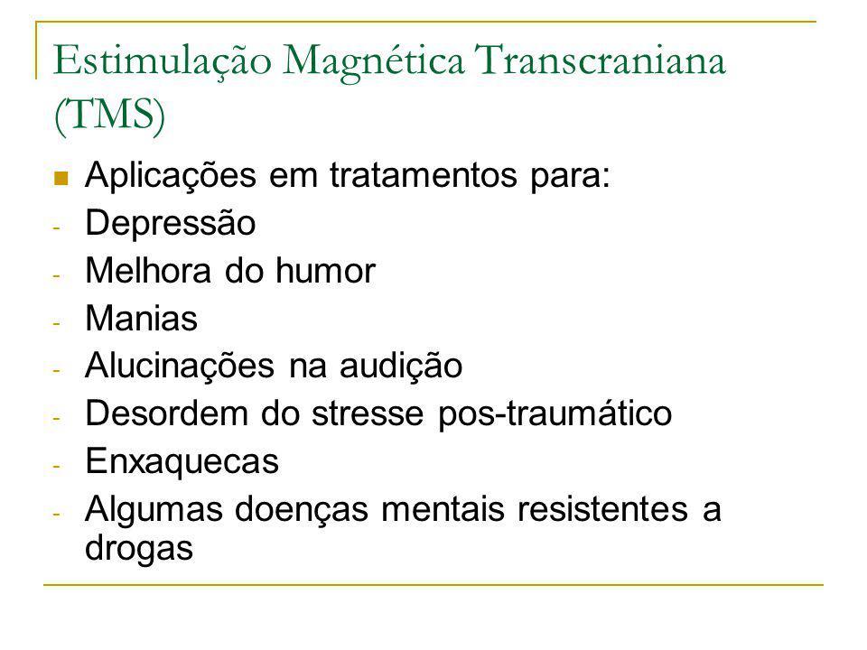 Aplicações em tratamentos para: - Depressão - Melhora do humor - Manias - Alucinações na audição - Desordem do stresse pos-traumático - Enxaquecas - A