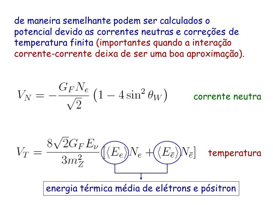 de maneira semelhante podem ser calculados o potencial devido as correntes neutras e correções de temperatura finita (importantes quando a interação c