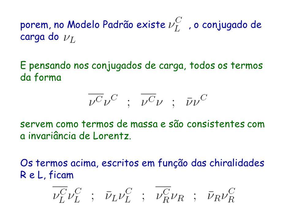 porem, no Modelo Padrão existe, o conjugado de carga do E pensando nos conjugados de carga, todos os termos da forma servem como termos de massa e são