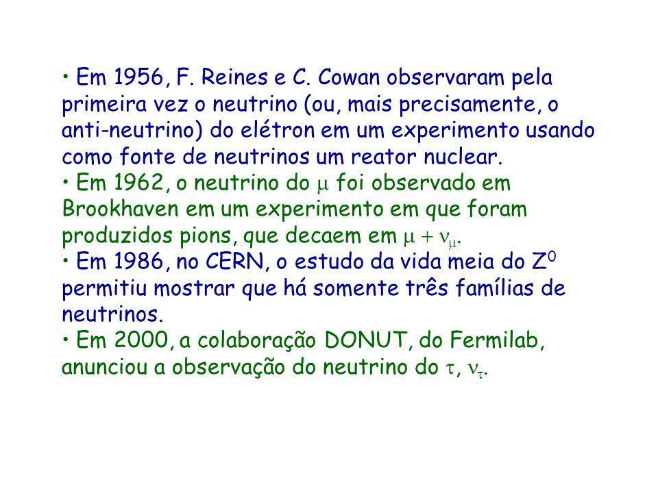 Em 1932, J. Chadwick descobre o nêutron, mas este é muito pesado e não corresponde a partícula postulada por Pauli. Em 1933, F. Perrin mostra que a ma