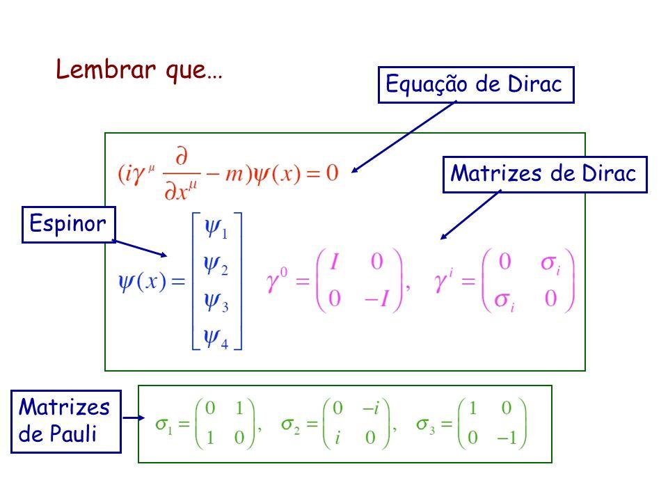 Teoria do decaimento Prelúdio: interação de 4 férmions E. Fermi (1934) A teoria é relativista. As funções de onda são espinores que satisfazem a equaç