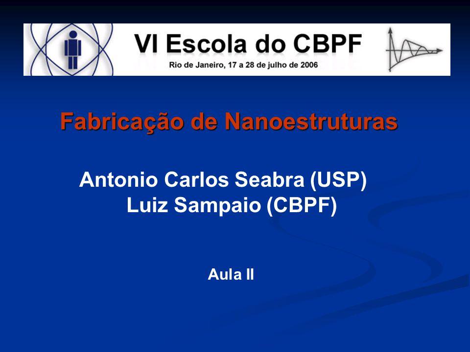 Fabricação de Nanoestruturas Antonio Carlos Seabra (USP) Luiz Sampaio (CBPF) Aula II