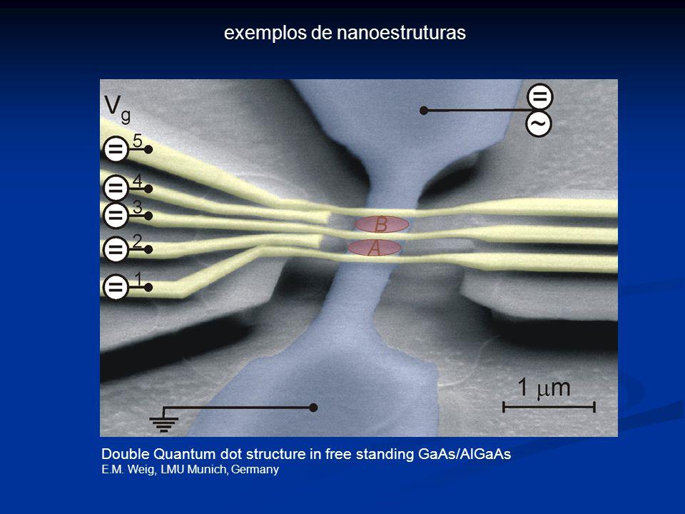 Double Quantum dot structure in free standing GaAs/AlGaAs E.M.