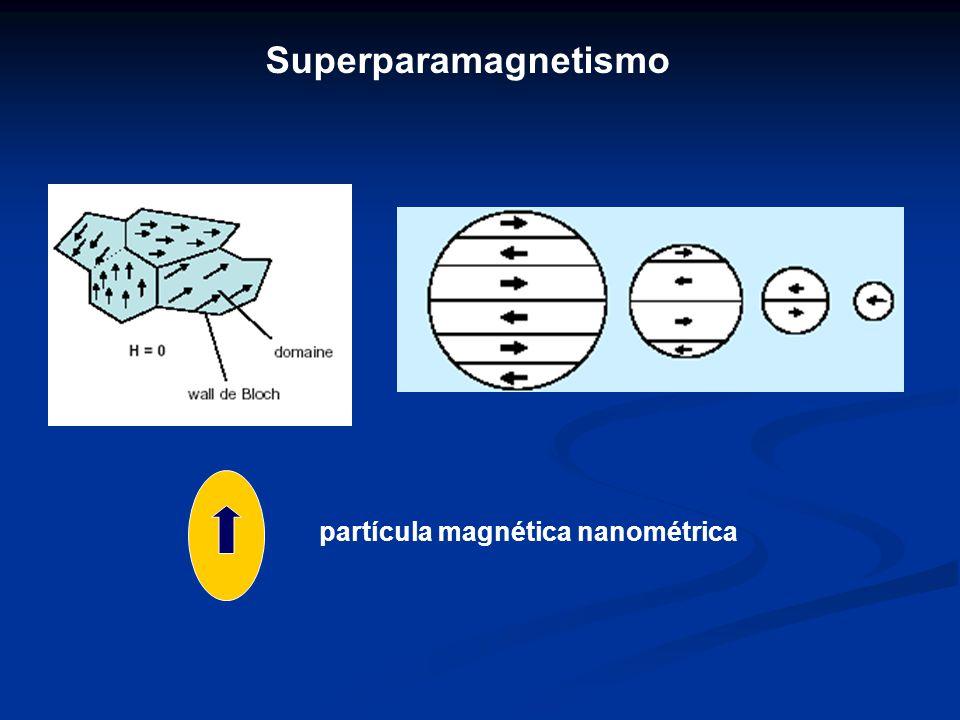 Superparamagnetismo partícula magnética nanométrica