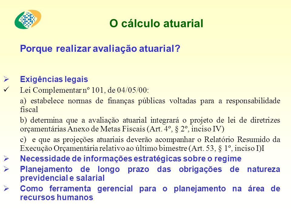 O cálculo atuarial GRUPOS ABRANGIDOS (Art.40 da CF, art.