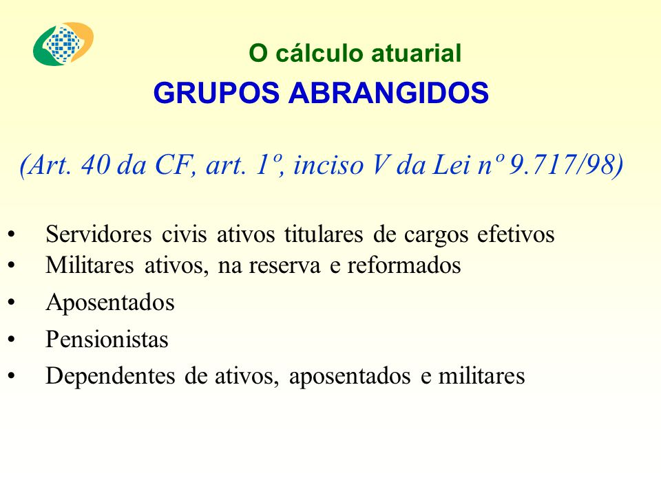 O cálculo atuarial DADOS Individualizados Porque.