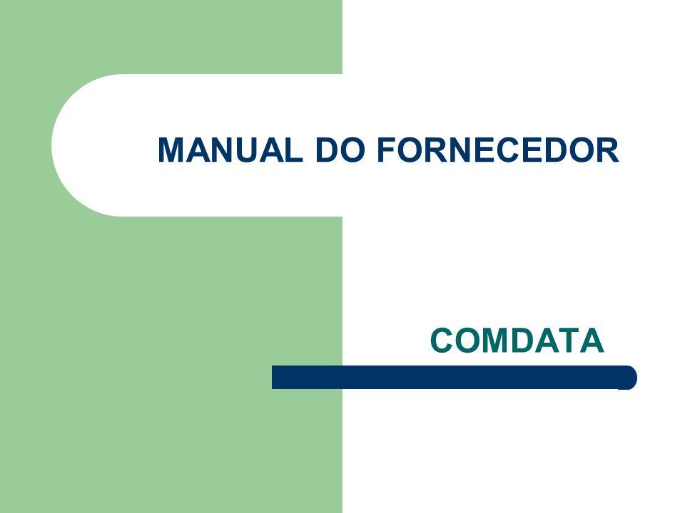 MANUAL DO FORNECEDOR COMDATA