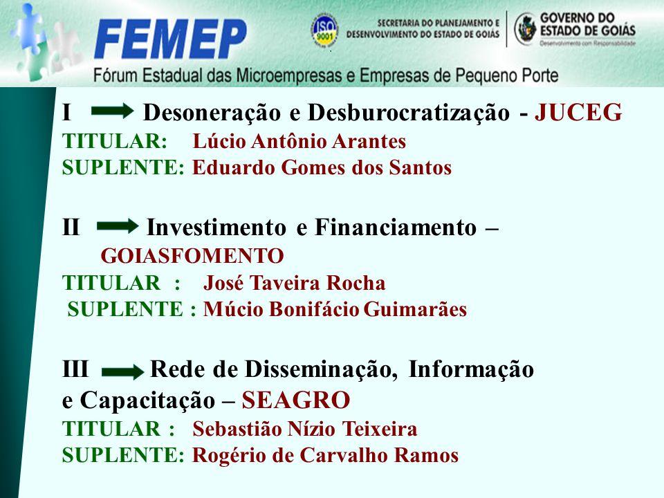 Fórum Estadual das Microempresas e Empresas de Pequeno Porte OBRIGADO SECRETARIA EXECUTIVA Forum.microempresas@seplan.go.gov.br