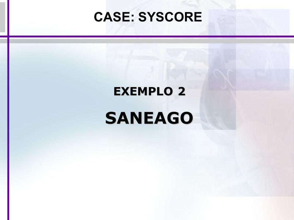 CASE: SYSCORE EXEMPLO 2 SANEAGO