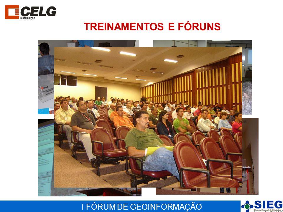 I FÓRUM DE GEOINFORMAÇÃO TREINAMENTOS E FÓRUNS