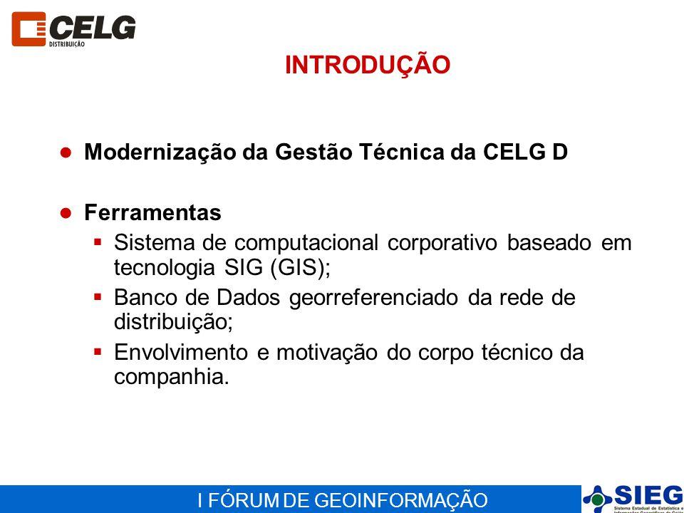 I FÓRUM DE GEOINFORMAÇÃO PROCESSO DE GESTÃO TÉCNICA - PGT