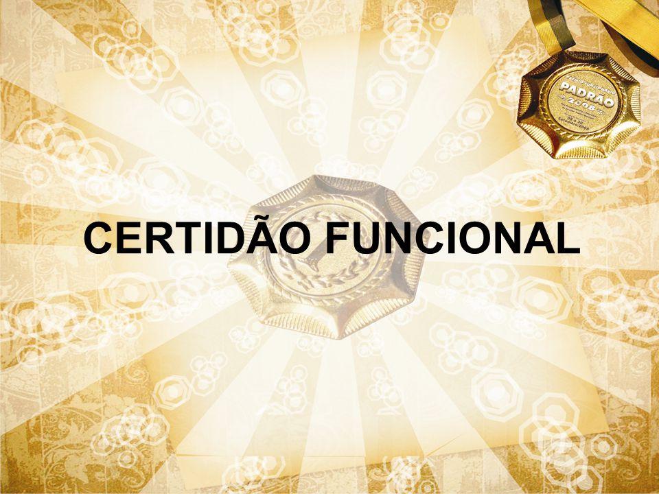 CERTIDÃO FUNCIONAL