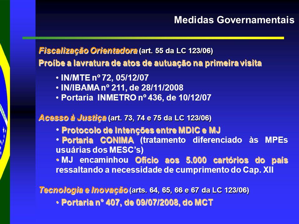 Medidas Governamentais Fiscalização Orientadora (art.
