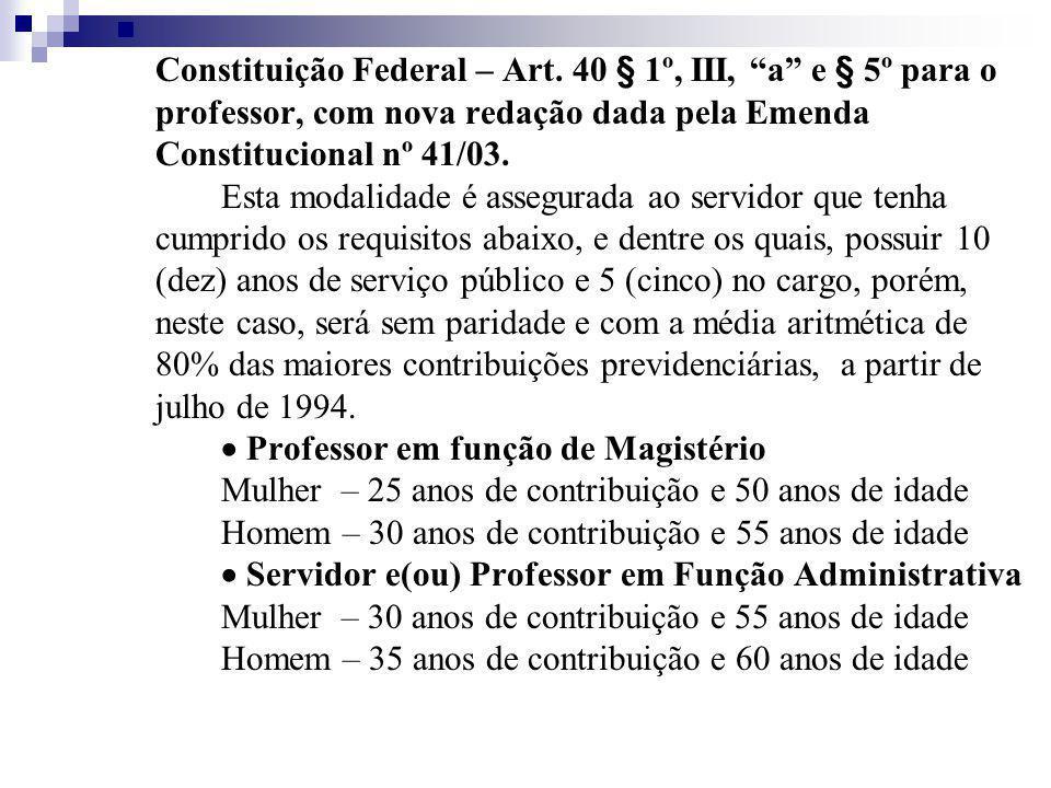 Constituição Federal – Art.