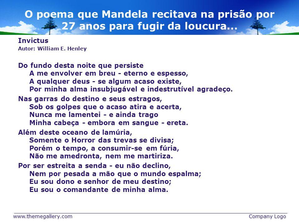 O poema que Mandela recitava na prisão por 27 anos para fugir da loucura...
